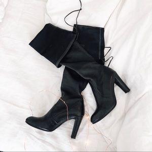 Stuart Weitzman Highland Boot Black Leather